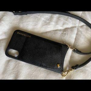 Bandolier Emma Pebble iPhone XS crossbody case.